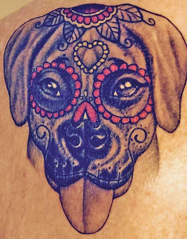 Boxer Dog Sugar Skull - Corey Miller
