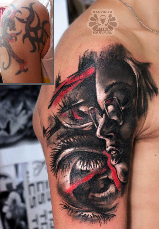 Cover up with face