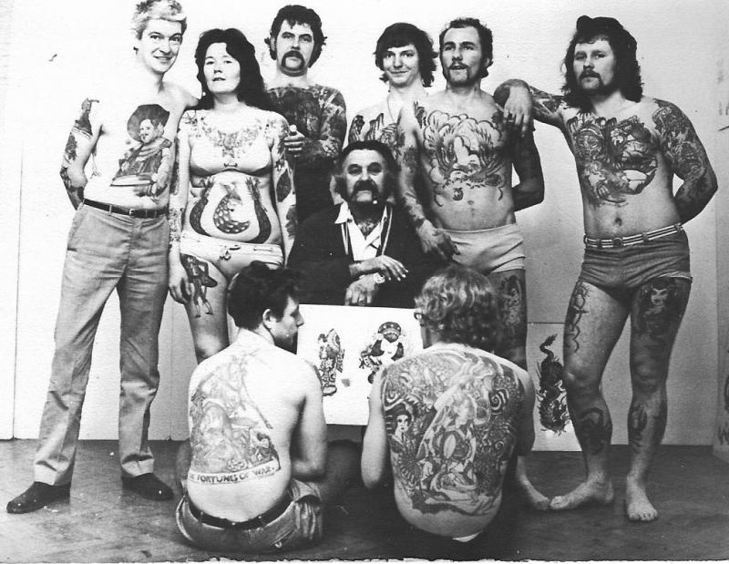 group of tattooed people