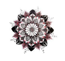 Black and Red Mandala