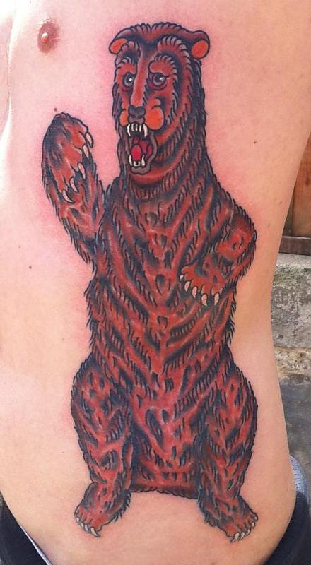 Bear on ribs finished