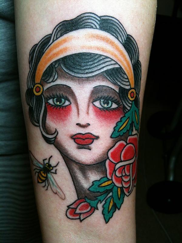 girl w/ bee & rose