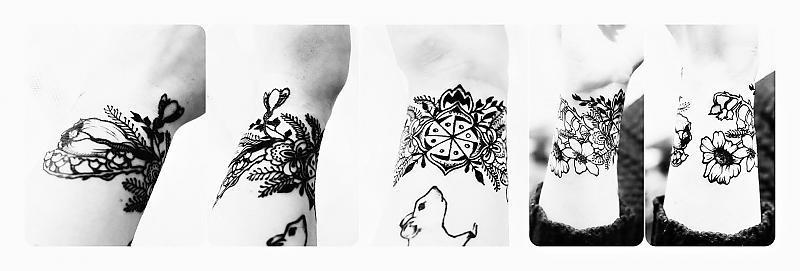 Slovian floral tattoo