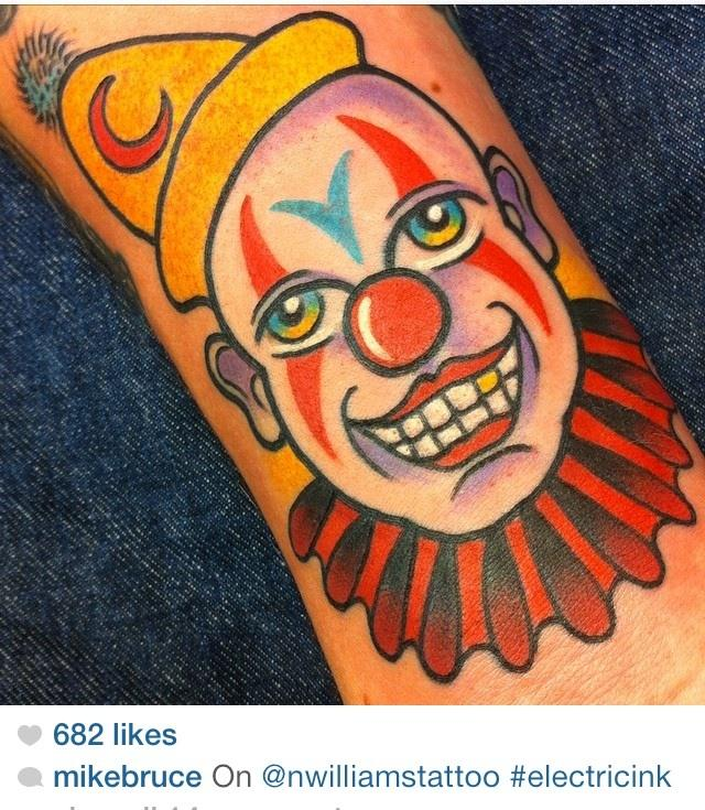 Zeis clown by mike Bruce at inksmith and rogers
