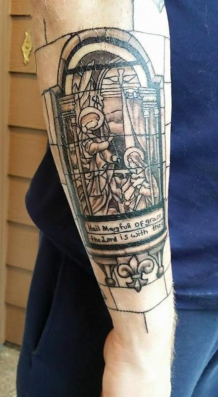 Outside lower right arm
