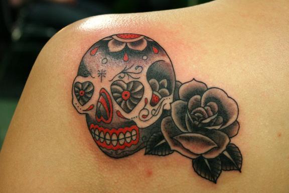 WEB sugar skull rose