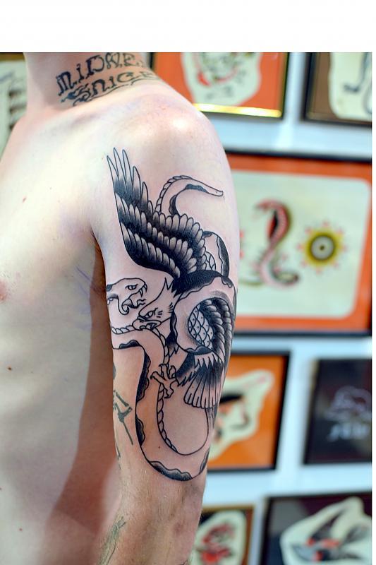 Eagle and Snake