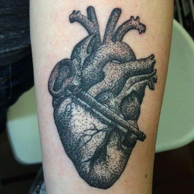 dot heart key