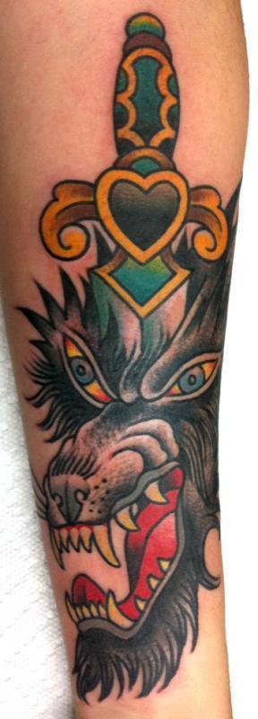 wolf dagger forearm