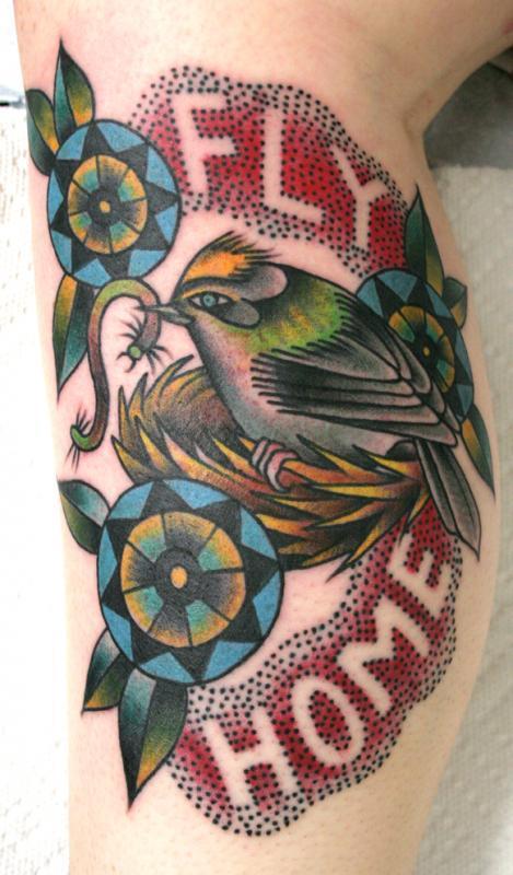 dot letter bird