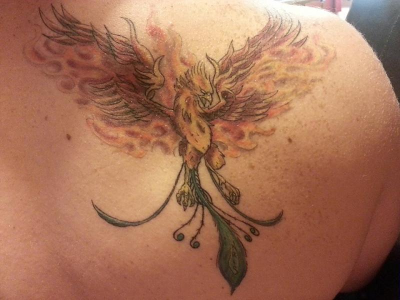 Phoenix Back Tat
