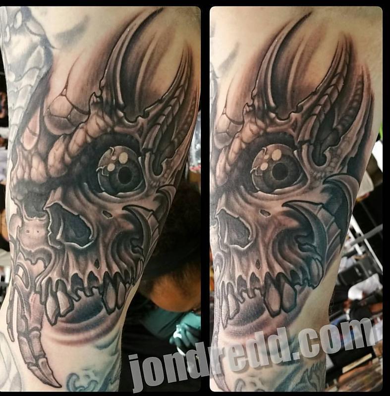 Biomech skull by Jon Dredd