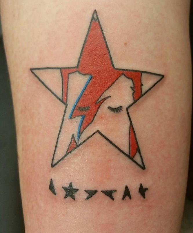 Bowie Tribute Tattoo