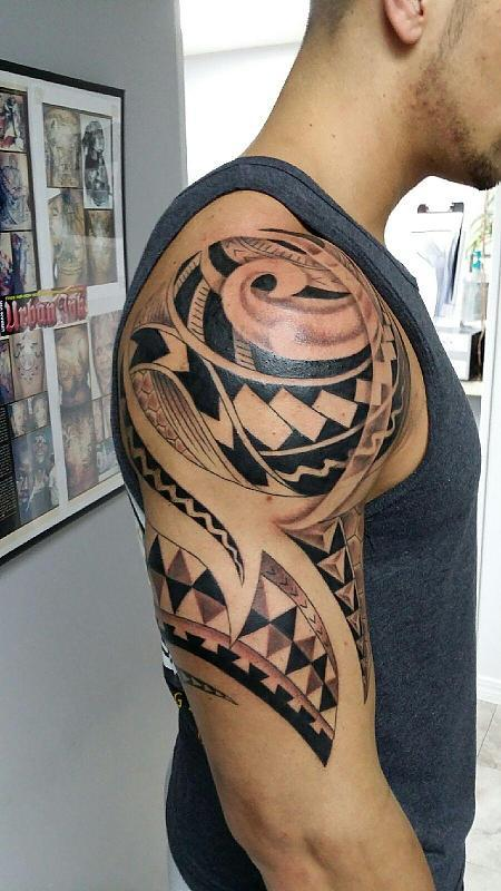Polynesian half sleeve