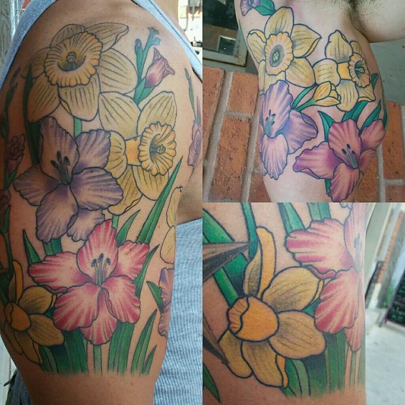 Daffodils/Gladiolus