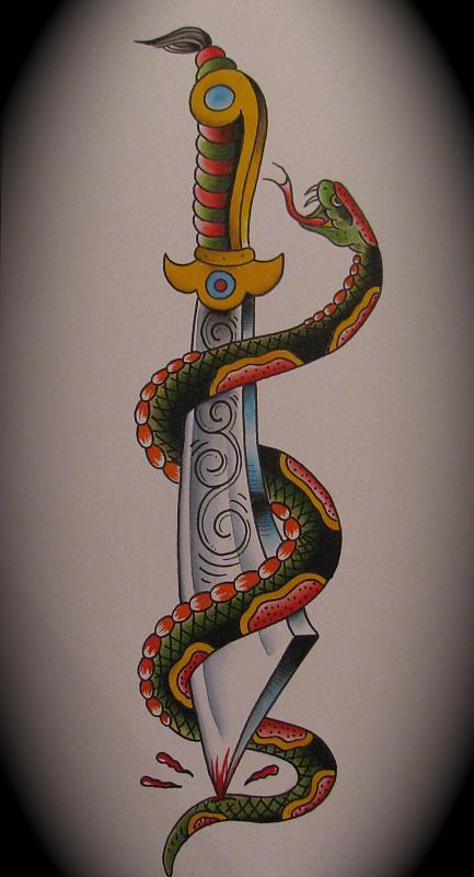 Snake and Dagger