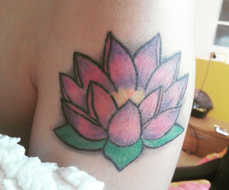 Lotus flower: My first tattoo
