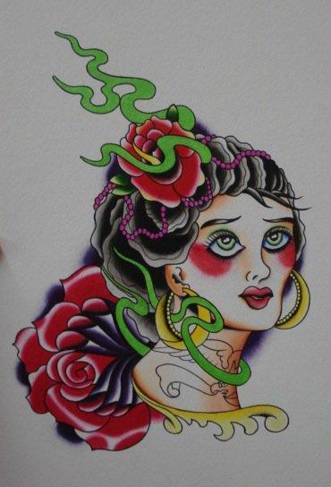 lady head