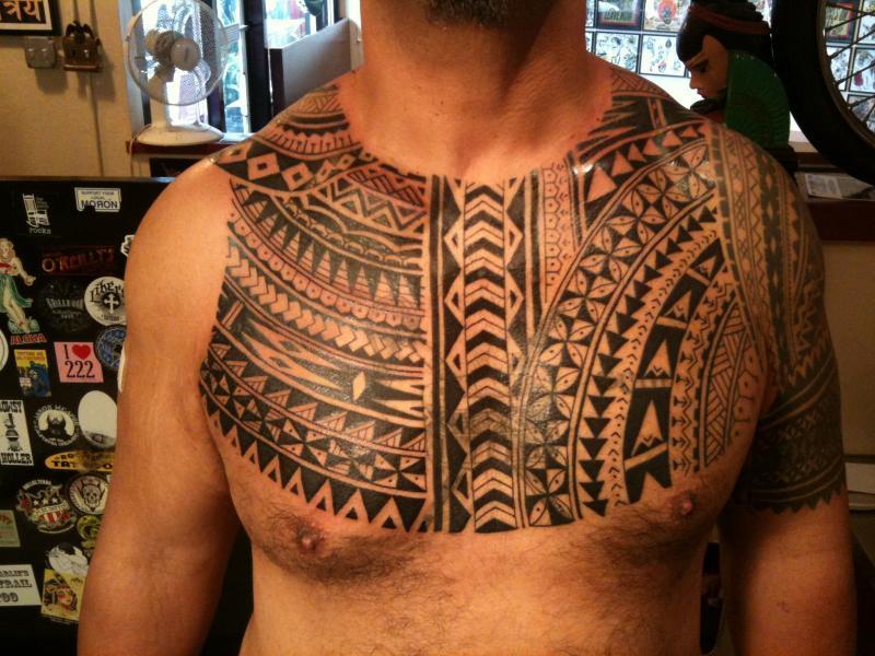 tribal chest piece