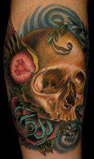 nate beavers skull with wing