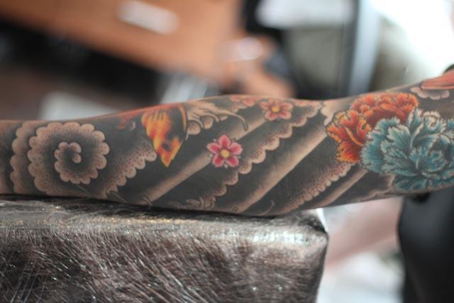 flowers sleeve