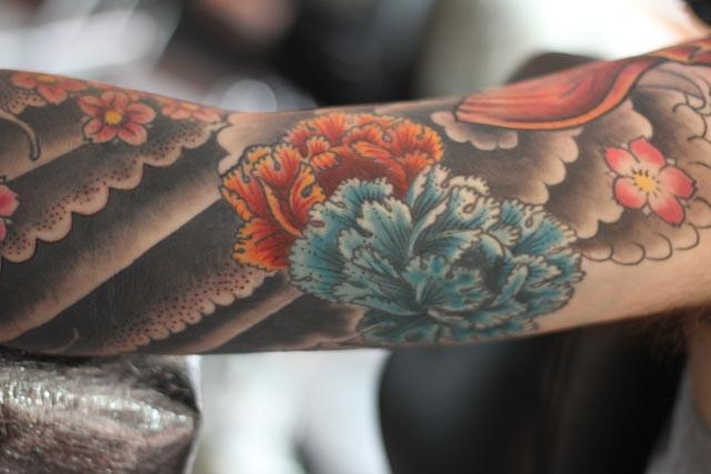 flowers sleeve