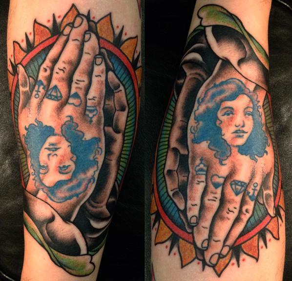 praying hands, Brian Kelly, Rose of No Man's Land Berlin