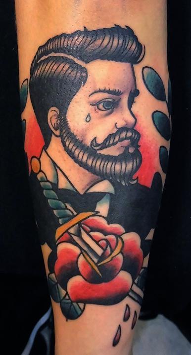 man with beard, Brian Kelly, Rose of No Man's Land Berlin