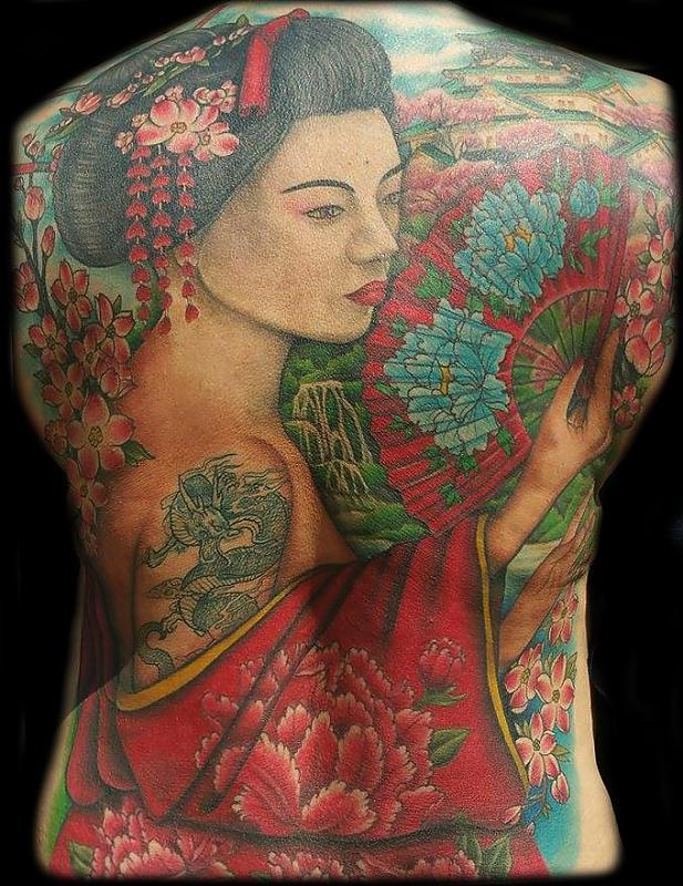 Geisha backpiece
