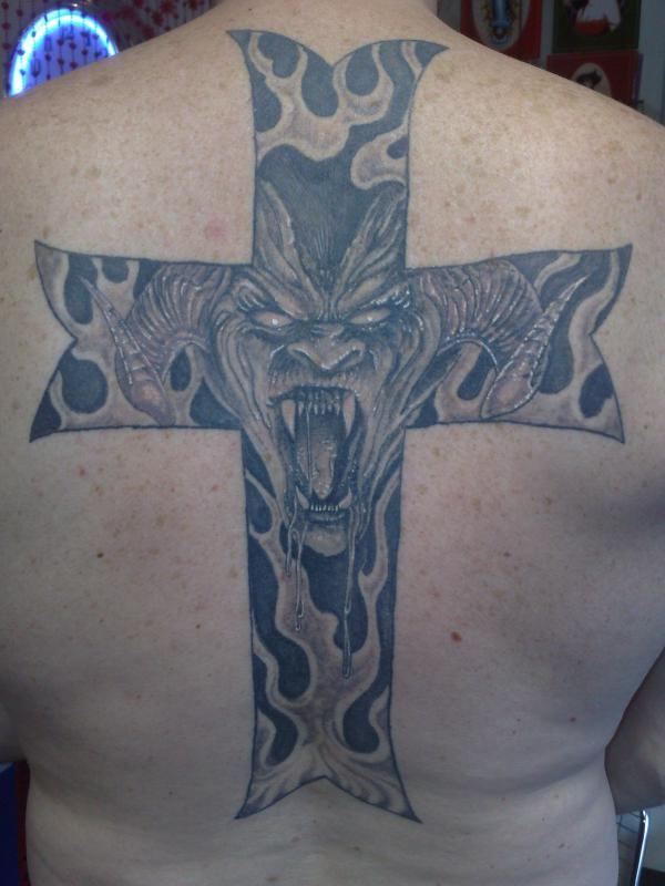 devil in cross