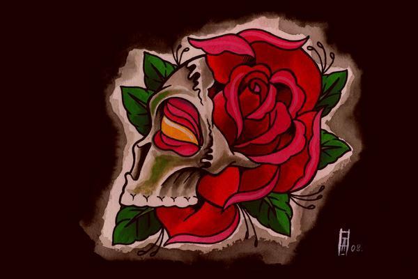 skull rose morph