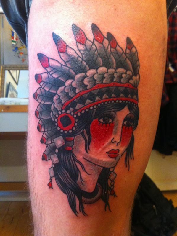 indian lady head