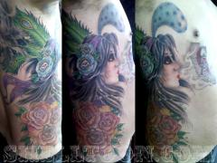 CA Girl tattoo