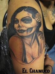 Day of the Dead girl by El Chamuco