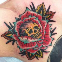 rose  skull armpit