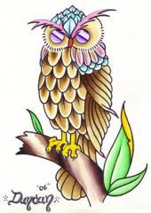 owl paint
