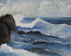 waves paint