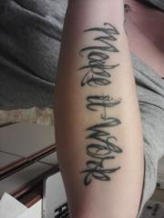 Family motto - Make it work