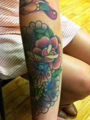 tattoos skull and roses
