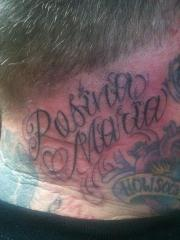 lettering neck