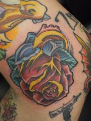 heart rose billy flip mccoy spike-o-matic tattoo 651 s.park st. madison wi. 53715 608-316-1000 87