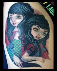 Fun vampire twins tattoo