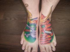 Skull Samurai Mask - Feet