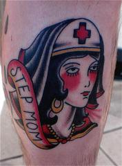 nurse tattoo traditional step mom nick branfiel