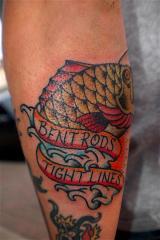 2traditional bass fish tattoo nick branfield