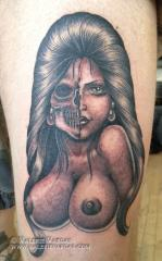 half skull girl nyc