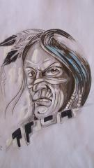 black n grey indian heads