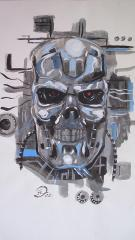 terminator drawn from comic strip
