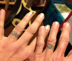 Wedding tattoos 1990