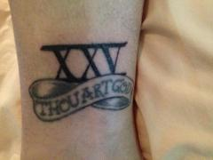 25th Anniversary tattoos
